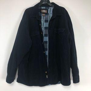 Levi's corduroy fleece button up shirt. Size XL